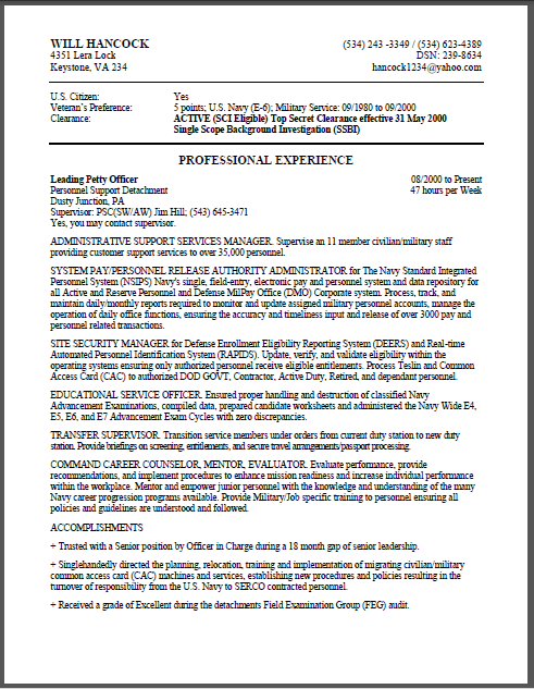 Lovely Bills Federal Resume1 ... On Example Of A Federal Resume