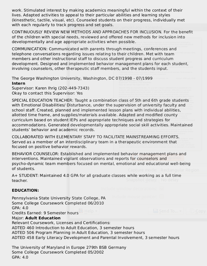 Federal Resume Sample For Education Series-1701 - Certified Resume ...