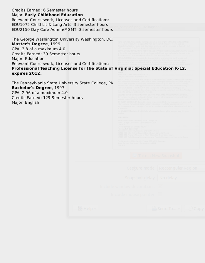 Federal Resume Sample For Education Series 1701